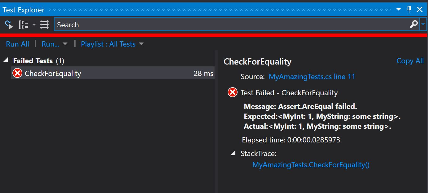 Assert AreEqual in MSTest – done right – Helper Code